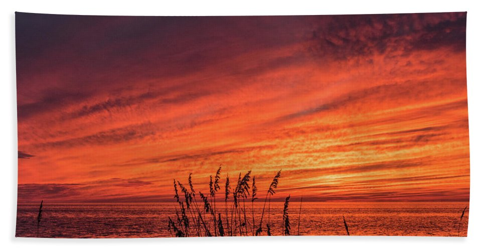 Sunset Beach Towel featuring the photograph Currituck Sunset II by Thomas Morrow