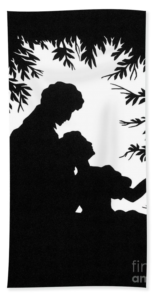 19th Century Beach Towel featuring the photograph Cut-paper Silhouette by Granger