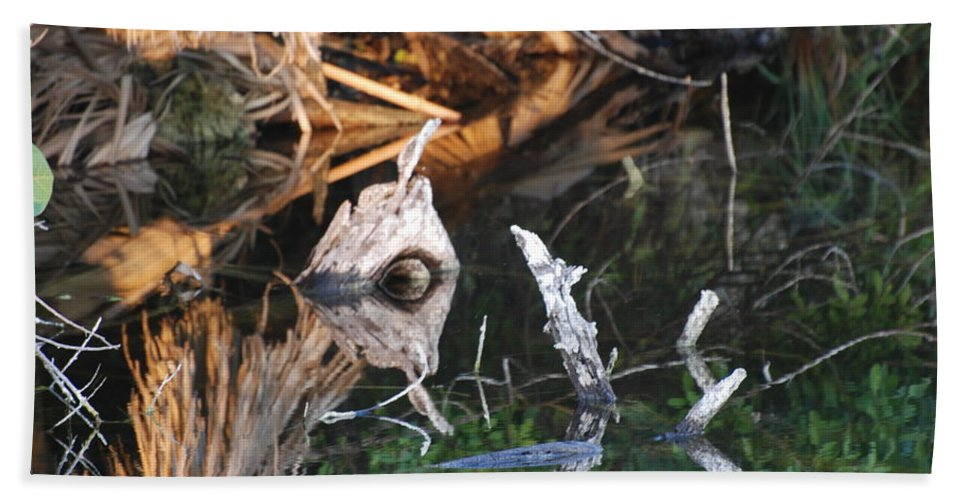 Wood Beach Towel featuring the photograph Cyclops by Rob Hans