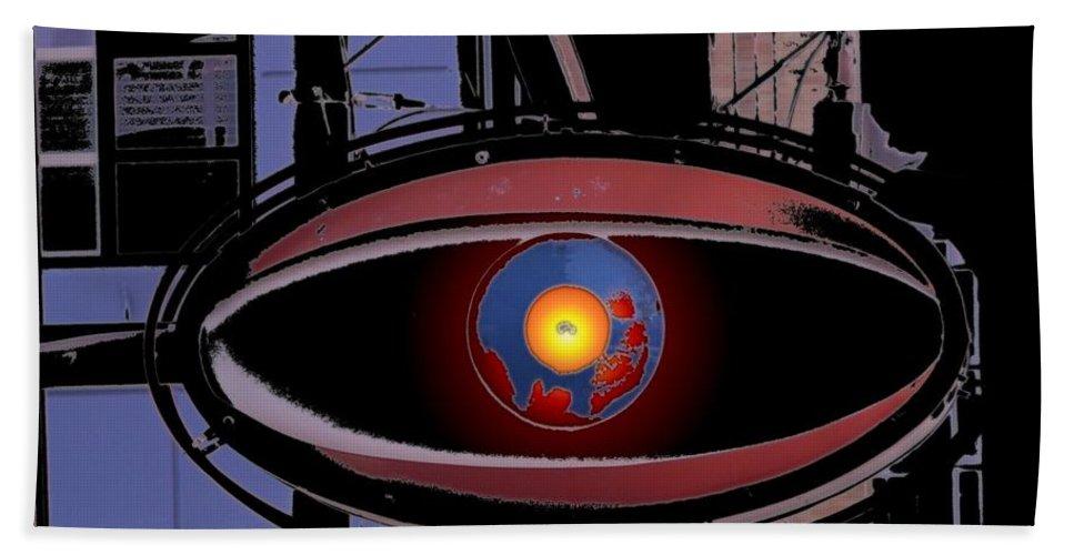 Seattle Beach Towel featuring the digital art Cyclops by Tim Allen