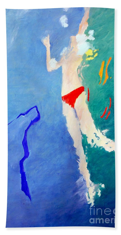 Water Beach Towel featuring the painting Cygnet by Lisa Baack