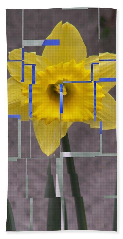 Flower Beach Sheet featuring the digital art Daffodil 1 by Tim Allen
