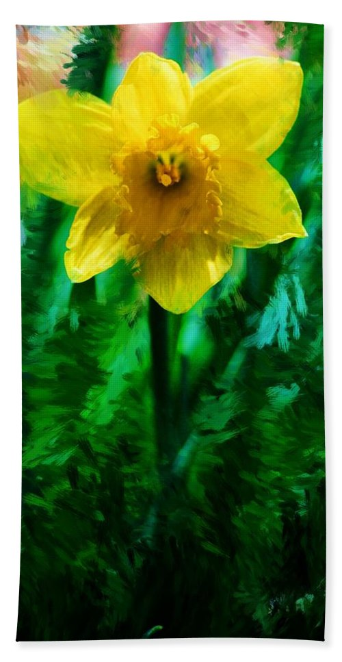 Abstract Beach Towel featuring the photograph Daffy Dill by David Lane