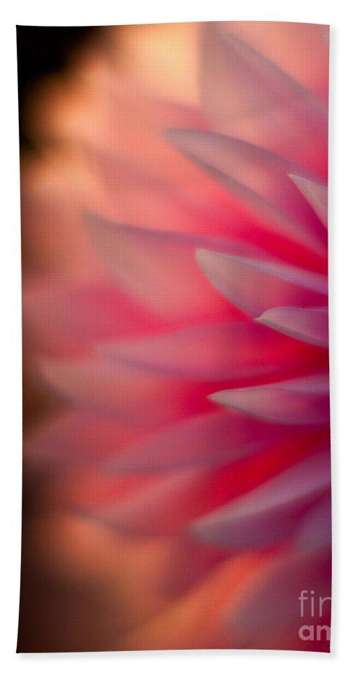 Dahlia Beach Towel featuring the photograph Dahlia Sunset by Mike Reid