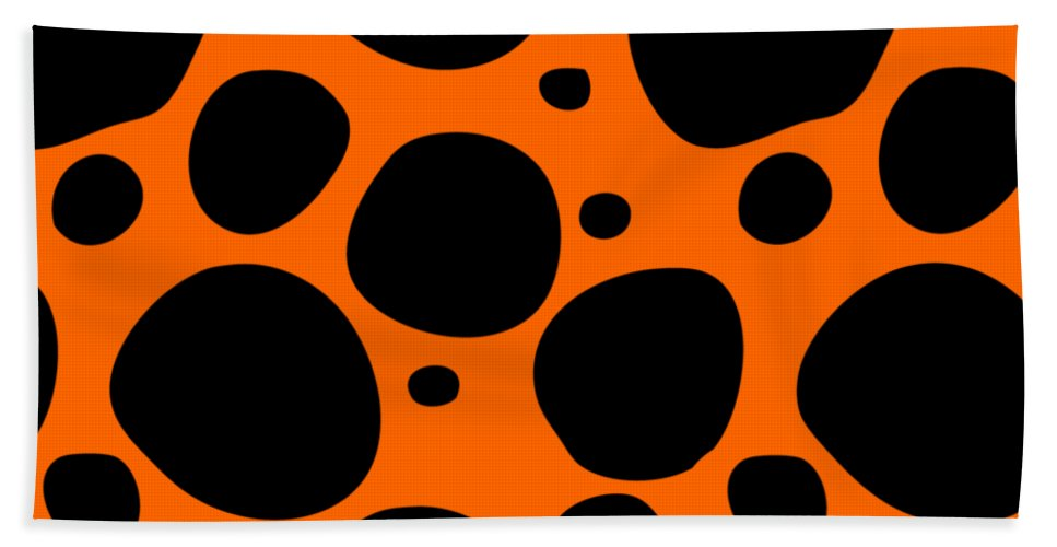 Pattern Beach Towel featuring the digital art Dalmatian Black Pattern 03-p0173 by Custom Home Fashions