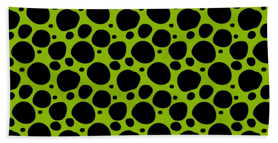 Pattern Beach Towel featuring the digital art Dalmatian Black Pattern 09-p0173 by Custom Home Fashions