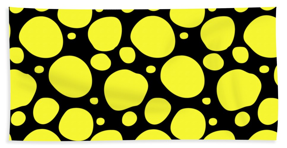 Pattern Beach Towel featuring the digital art Dalmatian Pattern With A Black Background 05-p0173 by Custom Home Fashions