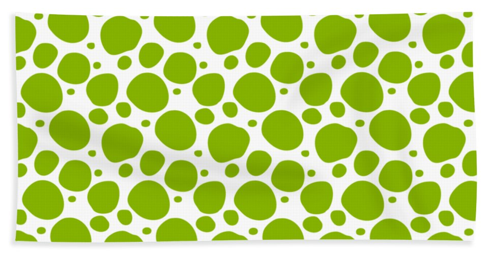 Pattern Beach Towel featuring the digital art Dalmatian Pattern With A White Background 09-p0173 by Custom Home Fashions