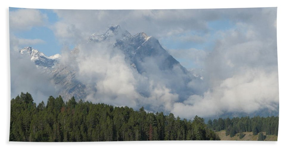 Patzer Beach Towel featuring the photograph Dam Clouds by Greg Patzer