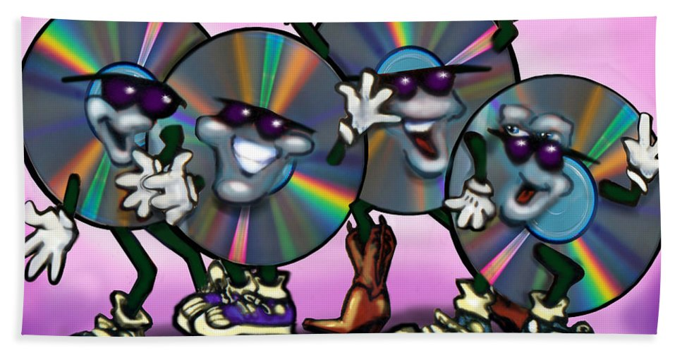 Dance Beach Towel featuring the greeting card Dance Music by Kevin Middleton