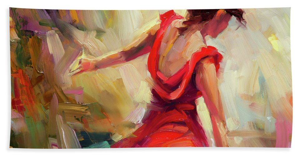 Dancer Beach Towel featuring the painting Dancer by Steve Henderson