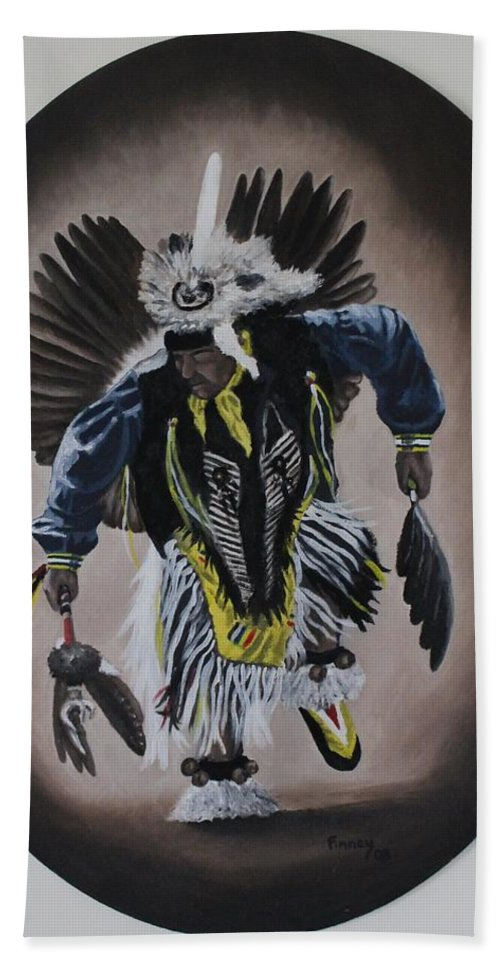 Michael Beach Towel featuring the painting Dancing In The Spirit by Michael TMAD Finney