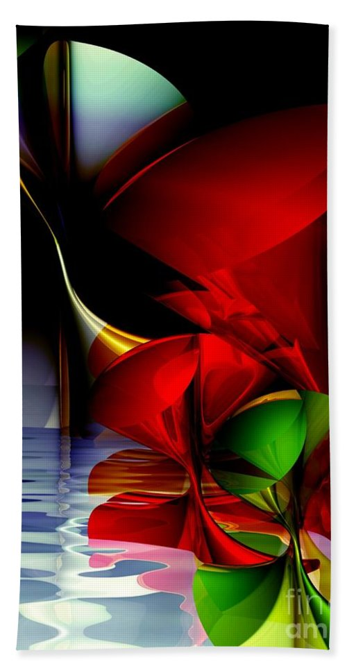 3d Beach Towel featuring the digital art Dancing Polynomials by Issabild -