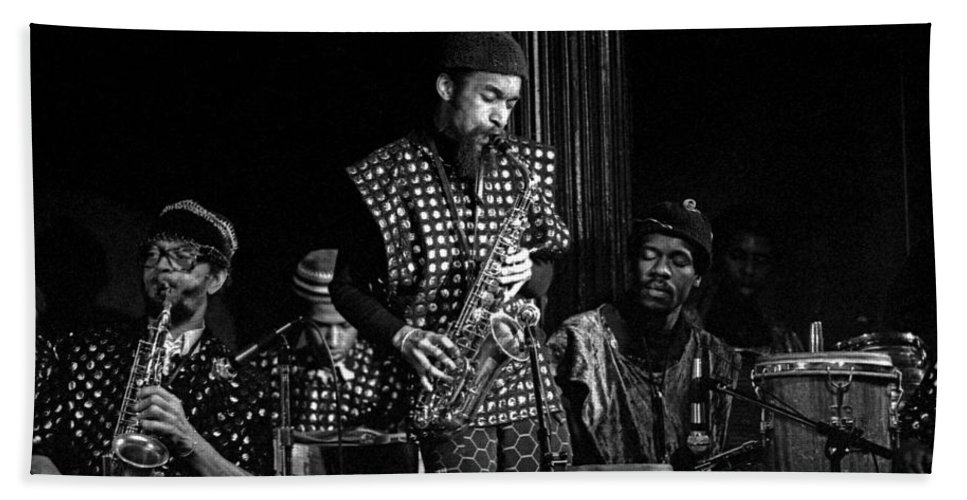 Jazz Beach Towel featuring the photograph Danny Davis With Sun Ra Arkestra by Lee Santa