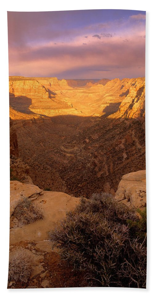 Dark Canyon Wilderness Beach Towel featuring the photograph Dark Canyon Sunset by Leland D Howard