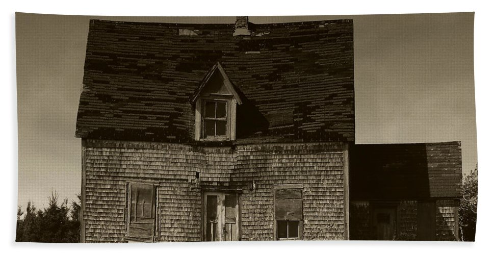 Old House Beach Towel featuring the photograph Dark Day On Lonely Street by RC DeWinter