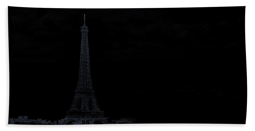 Abstract Beach Towel featuring the photograph Dark Paris by Rabiri Us