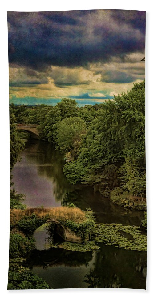 Avon Beach Towel featuring the photograph Dark Skies Over The Avon by Chris Lord