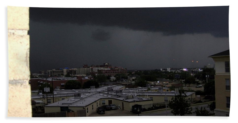 Clouds Beach Towel featuring the photograph Dark Storm by Amy Hosp