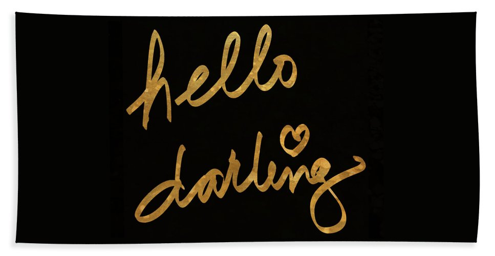 Darling Beach Towel featuring the painting Darling Bella I by South Social Studio