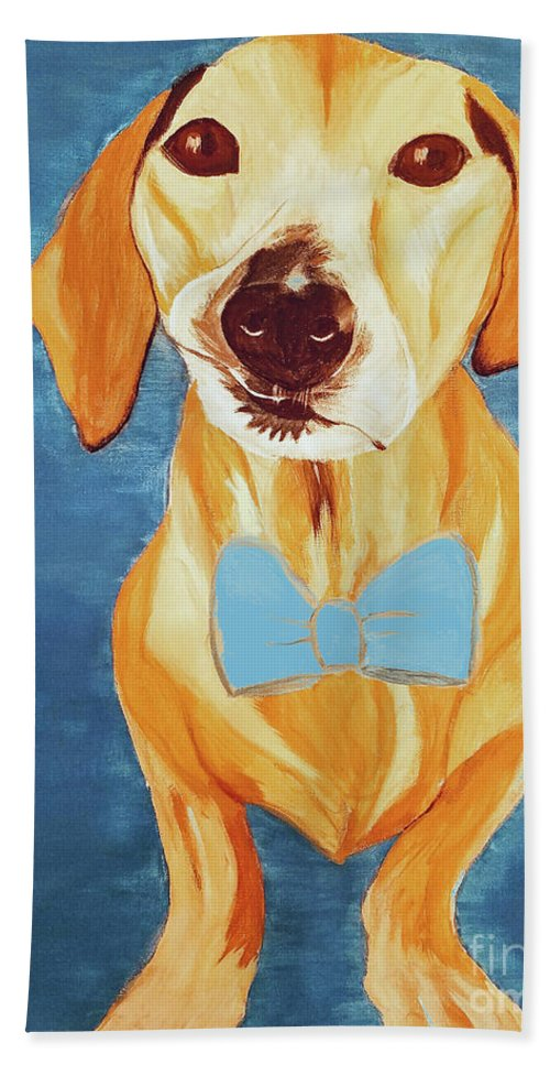Pet Beach Towel featuring the painting Date With Paint Feb 19 Rafee by Ania M Milo