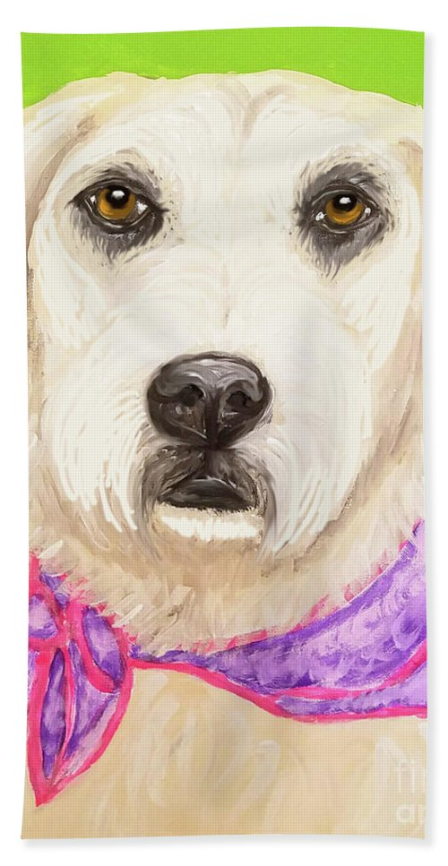 Pet Beach Towel featuring the painting Date With Paint Feb 19 Sally by Ania M Milo