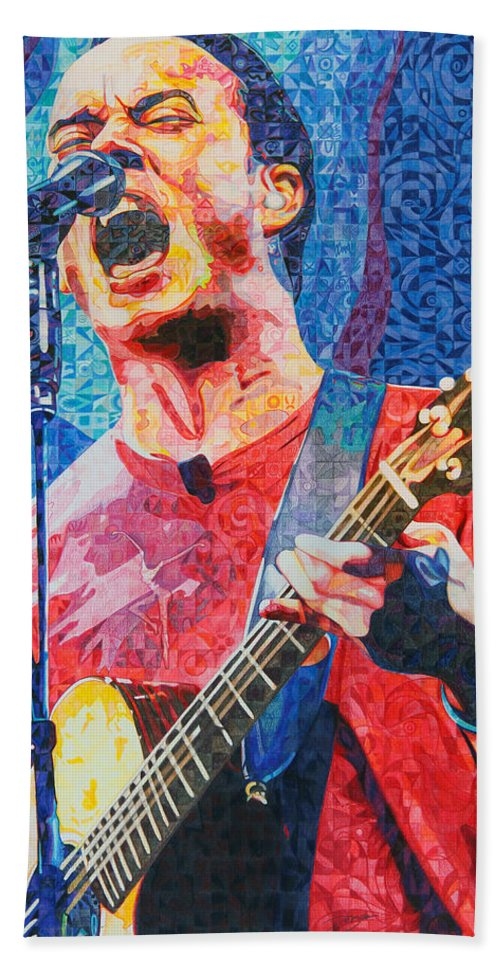 Dave Matthews Beach Towel featuring the drawing Dave Matthews Squared by Joshua Morton