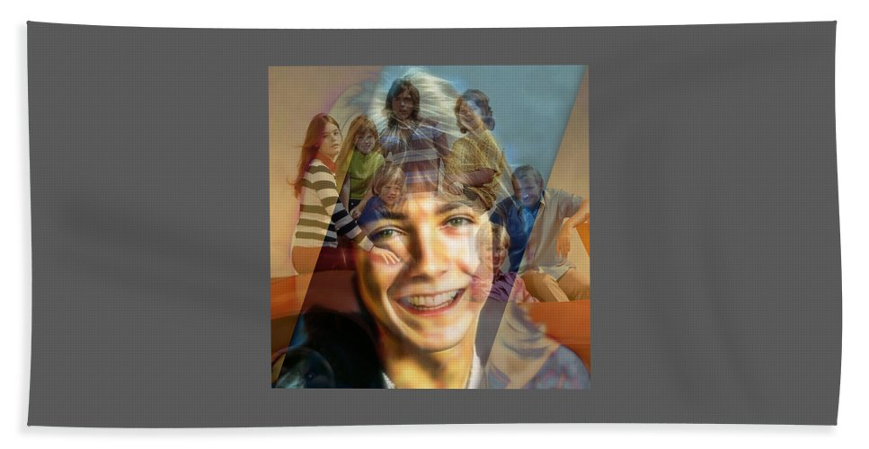 David Cassidy Beach Towel featuring the mixed media David Cassidy by Marvin Blaine