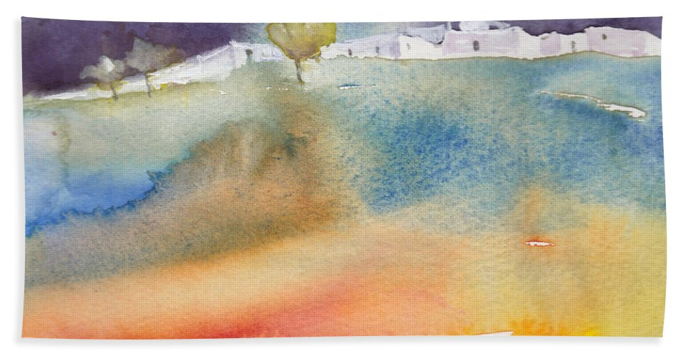 Landscapes Beach Towel featuring the painting Dawn 15 by Miki De Goodaboom