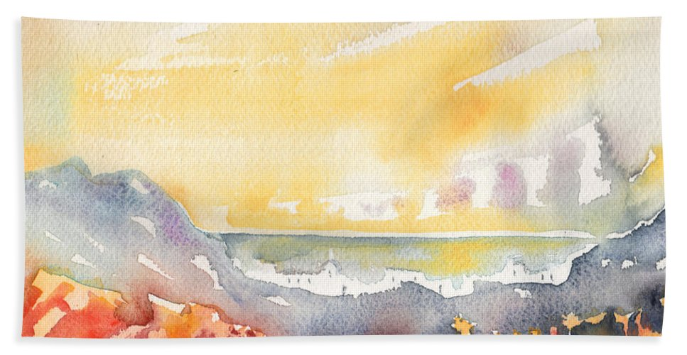 Landscapes Beach Towel featuring the painting Dawn 21 by Miki De Goodaboom