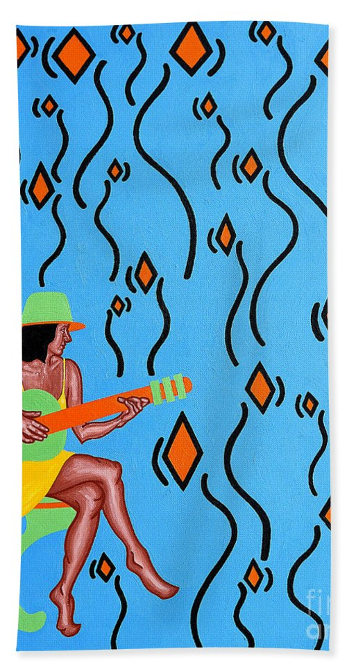 Song Beach Towel featuring the painting Dawn Chorus by Patrick J Murphy