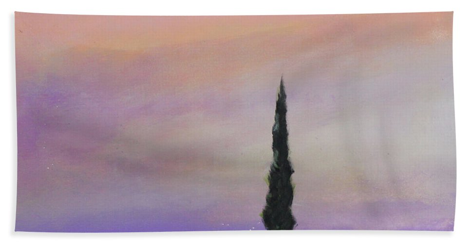 Tree Beach Towel featuring the painting Dawn Of A New Day by Toni Grote