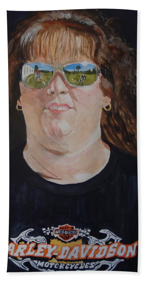 Portrait Beach Towel featuring the painting Dawn Reflects by Jean Blackmer
