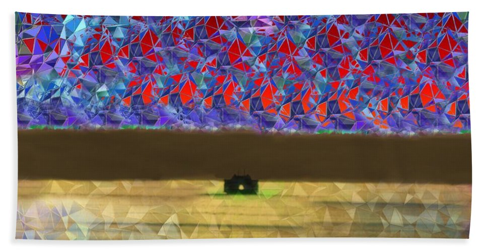 Abstract Beach Towel featuring the photograph Days End by Tim Allen
