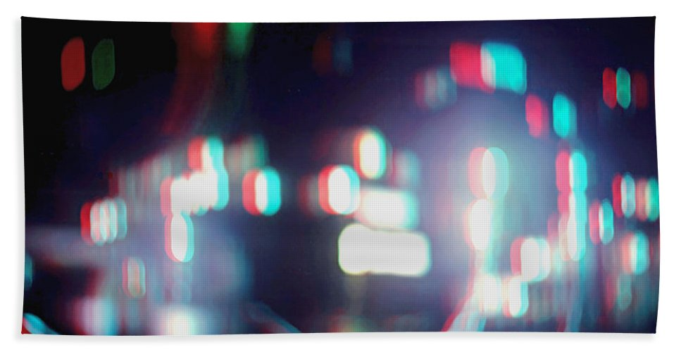 3d Beach Towel featuring the photograph Dc Lights - Use Red-cyan 3d Glasses by Brian Wallace