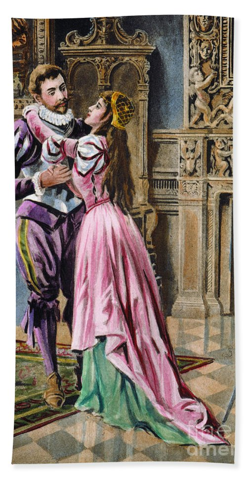 1539 Beach Towel featuring the photograph De Soto & Isabella, 1539 by Granger
