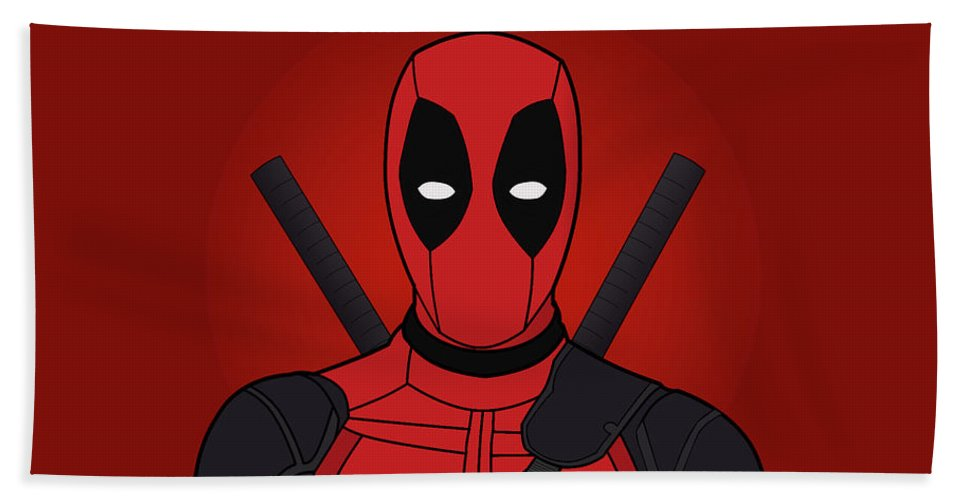 Deadpool Wallpaper Comic Superhero Marvel Beach Sheet featuring the digital art Deadpool Wallpaper by Austin Bone
