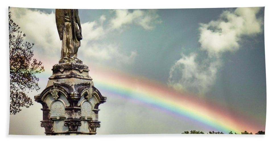 Mount Olivet Beach Towel featuring the photograph Death And A Rainbow by Diana Powell