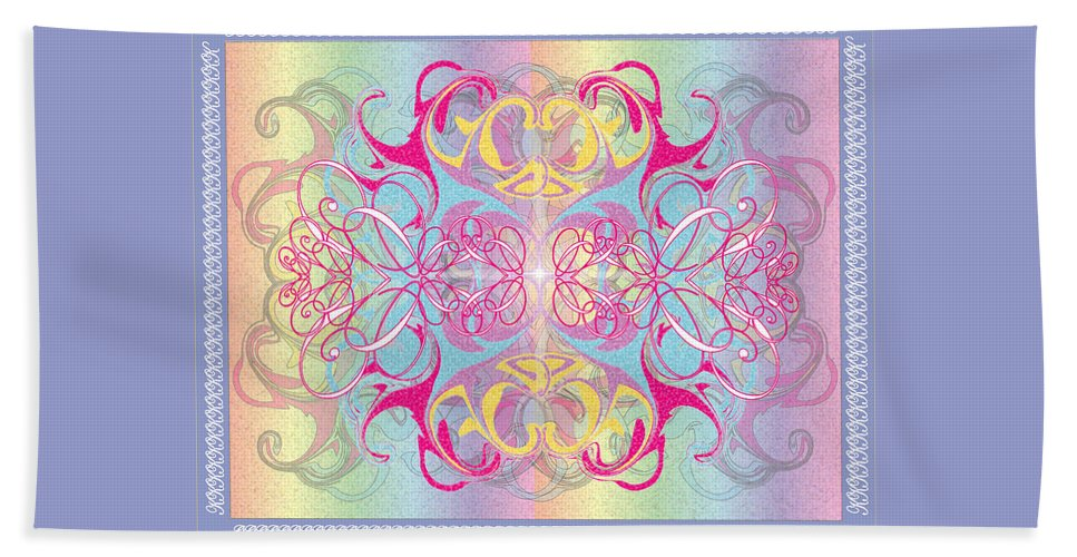 Color Beach Sheet featuring the digital art Decorative 11 by George Pasini