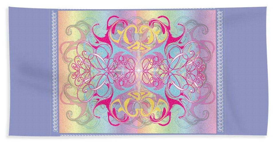 Color Beach Towel featuring the digital art Decorative 11 by George Pasini