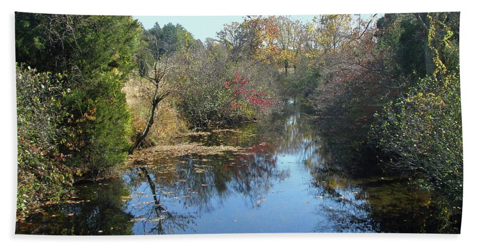 Creek Beach Towel featuring the photograph Deep Creek - Green Lane Pa by Mother Nature