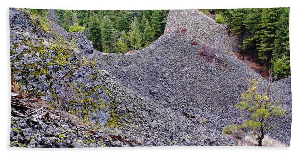 Nature Beach Towel featuring the photograph Deep Creek Rocks by Ben Upham III