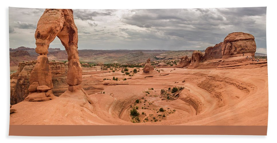 3scape Photos Beach Towel featuring the photograph Delicate Arch Panoramic by Adam Romanowicz