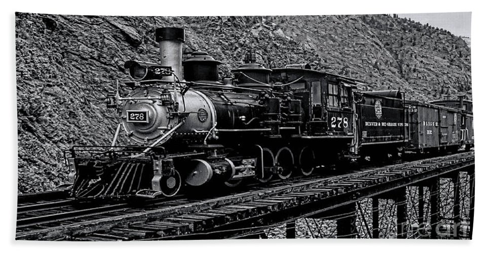 Denver-rio Grande Railroad Beach Towel featuring the photograph Denver-rio Grande Rr by Tommy Anderson
