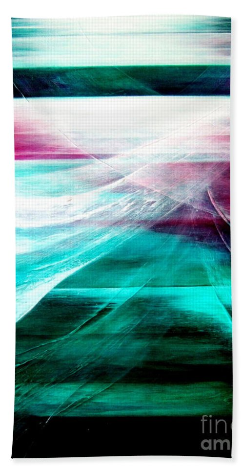 Departure Beach Towel featuring the painting Departure by Kumiko Mayer
