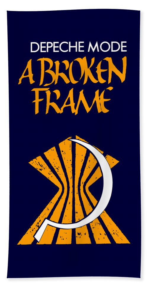 Depeche Mode Beach Towel featuring the digital art A Broken Frame Logo With Name by Luc Lambert
