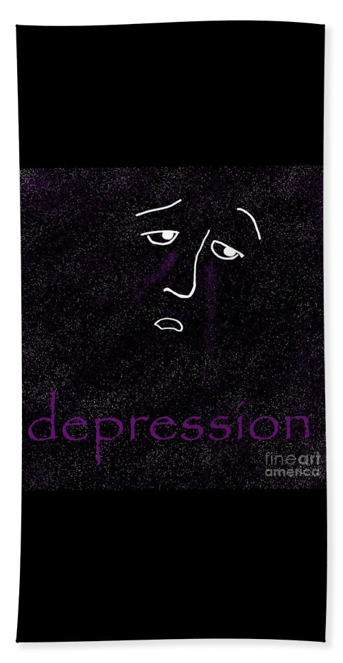 Depression Beach Towel featuring the digital art Depression by Methune Hively