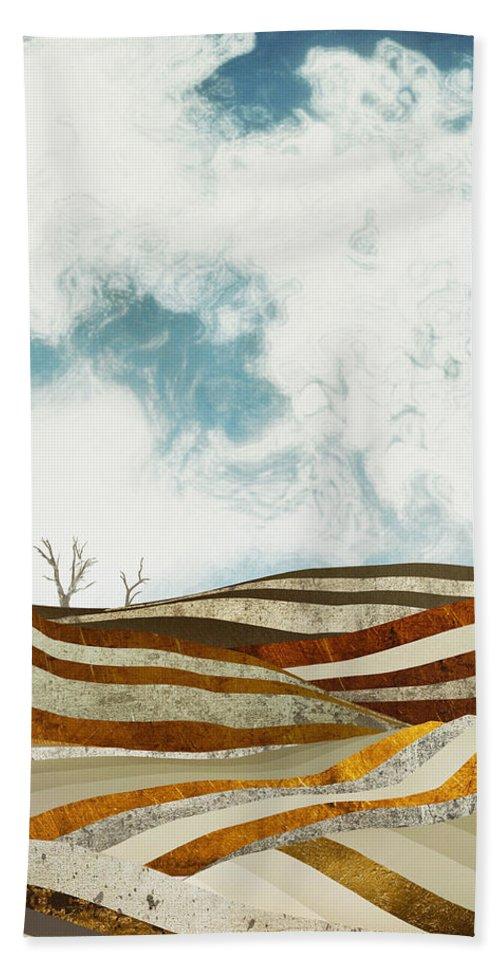 Desert Beach Towel featuring the digital art Desert Calm by Spacefrog Designs