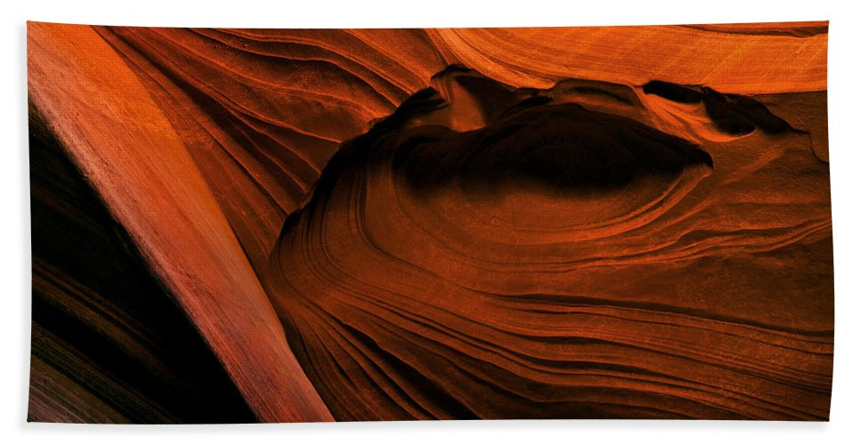Antelope Canyon Beach Towel featuring the photograph Desert Carvings by Mike Dawson