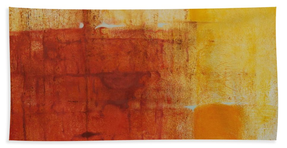 Tom Brooks Beach Towel featuring the painting Desert  High Noon by Tom Brooks